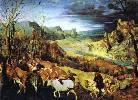 Peter Bruegel Starszy, 'Powrót stada' ('Listopad')