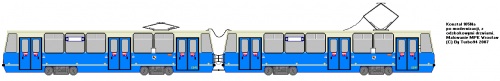 Konstal 105Na #2201 + #2202 - Jedna z modernizacji Protramu.