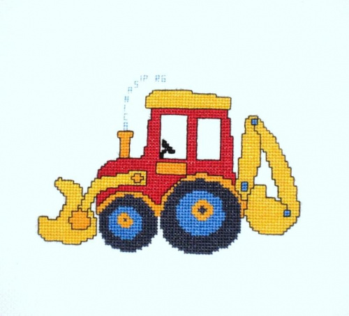 Kubuś, k.560 #haft #traktor