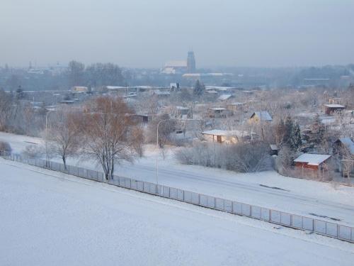 Ostatnie akcenty bialej zimy w Gnieźnie