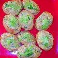 Grzaneczki o smaku kokosowym.Przepisy na : http://www.kulinaria.foody.pl/ , http://www.kuron.com.pl/ i http://kulinaria.uwrocie.info/ #grzanki #kanapki #przekąski #śniadanie #kolacja #jedzenie #kulinaria