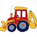Patryk, kl.V #traktor #koparka #haft