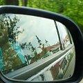 Supraski monaster w lusterku samochodowym. #lusterko #jazda #supraśl #cerkiew #monaster #klasztor