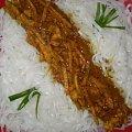 Kurczak kokosowo-cytrynowy z makaronem ryżowym .Przepisy na : http://www.kulinaria.foody.pl/ , http://www.kuron.com.pl/ i http://kulinaria.uwrocie.info #kurczak #kokos #cytryna #MakaronRyżowy #obiad #DrugieDanie #jedzenie #kulinaria #słodkości