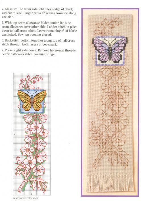 zakładka z motylkiem