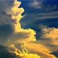Brzeg chmury nad Balicami KRK 23/06/08 #chmura #niebo #burza