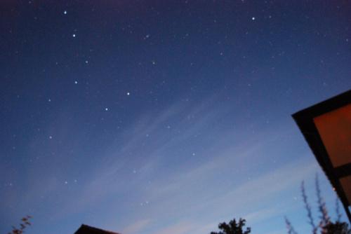 obłoki srebrzyste na letnim niebie #zorza #niebo #noc #ObłokiSrebrzyste #księżyc #gwiazdy #chmury