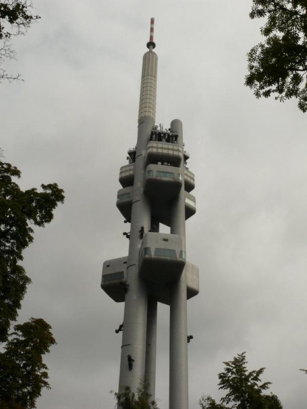 Wieża telewizyjna o wys. 216m #Praga