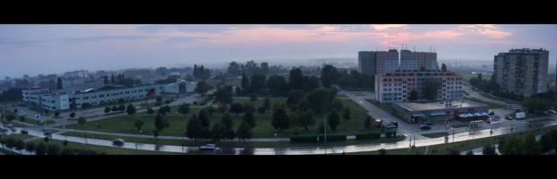 #panorama #ulica #zachód #słońca #zachod #slonca #bloki #akademiki