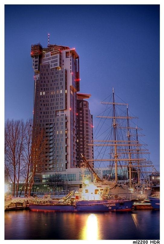 zdjecia Gdynskich SeeTowers w technologi HDR