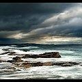 skalki #chmury #ocean #poranek #przyroda #woda #WschódSłońca