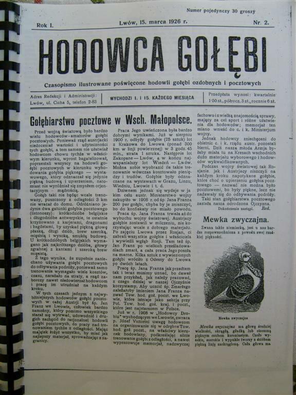 Gołębiarstow cz. I