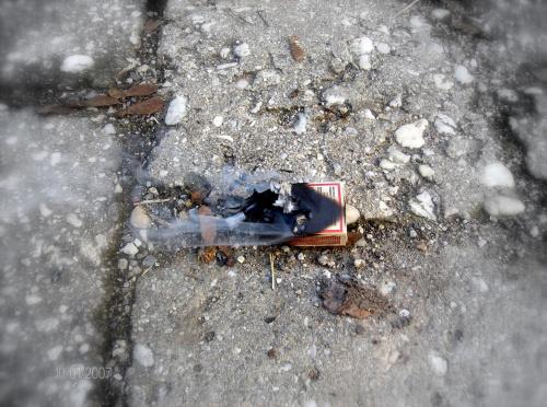 Zapałki w ogniu #Zapałki #dym #makro